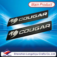 Metal personalized aluminum office door nameplate,custom logo brushed badge label manufacturer in China