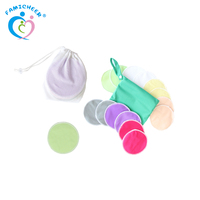 Famicheer Super Absorbent Multiple Colour Reusable Bamboo Breast Nursing Pads
