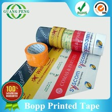 SGS Approved Custom Bopp Adhesive Carton Packing Printed Duct Tape With Logo Printed