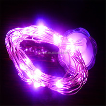 Hot selling silver color holiday indoor decoration 5m copper wire LED Lull Flower String Light