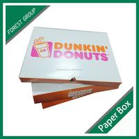 Custom Printing Food Grade Donut Packaging Paper Lunch Box Wholesale