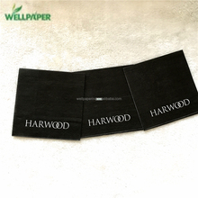 2 ply , 100% virgin woold pulp black paper napkins with logo print for dinner