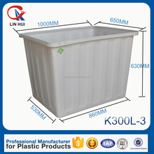 300L rotomolding flexible PE Nestable folding container with bottom price