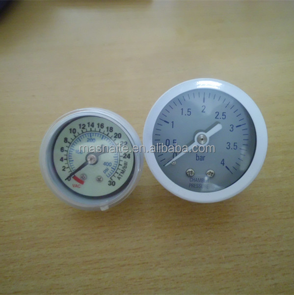 Naite white chrome plate luminous pressure manometer for medical healthy using