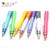 New School Stationery Plunger Action Plastic Ballpoint Pen With Custom Logo Printed