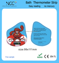 OEM PVC Baby Bath thermometer strip water thermometer card with LCD thermometer strip