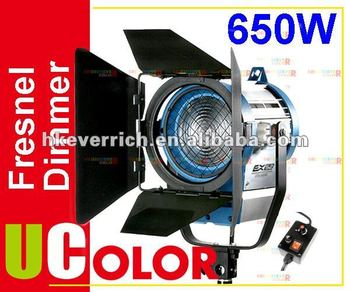 650W Tungsten Fresnel With Dimmer Control Video Spot Film Light Continuous Lighting