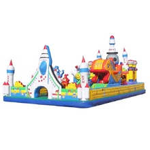Giant high quality PVC Inflatable rocket plane bouncer castle inflatable space shuttle slides trampoline playground