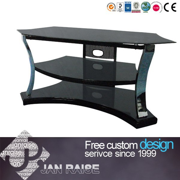 Living room furniture corner black tv stand OK-51018