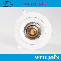 TOP SELLING!! Professional Adjustable 7W LED COB trimless recessed downlight