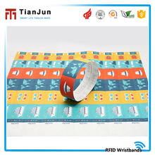 Wholesale colorful active rfid tag price paper wristband waterproof for activity