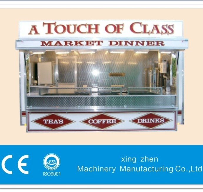 New type food cart in 2014 CE ISO9001 approve confectionery catering trailer