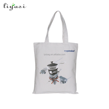 Wholesale fashion eco friendly canvas cotton fabric custom printed canvas fashion college new bag for girls