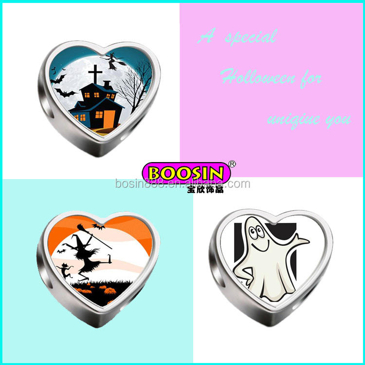 Heart shoelace charms beads
