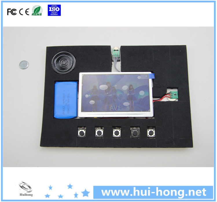 2.4inch LCD Video Panel Module with Battery