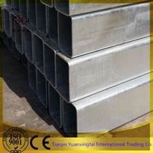 50*70mm 50*80mm Zinc plated rectangular steel pipe/tube/pre galvanized hollow section tubo galvanizado