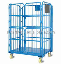 Customized New Design Wire Mesh Safety Roll Container For Various Materia Flow