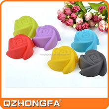 LFGB,FDA,SGS Certification silicone rose cake mold with various colors