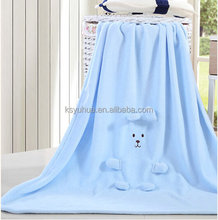 Embroidery 3D soft flannel blanket for baby