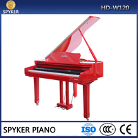 Digital Piano 88 keys Red White Black Wood Color Polish Digital Baby Grand Piano HUANGMA HD-W120 Japan Sound Board