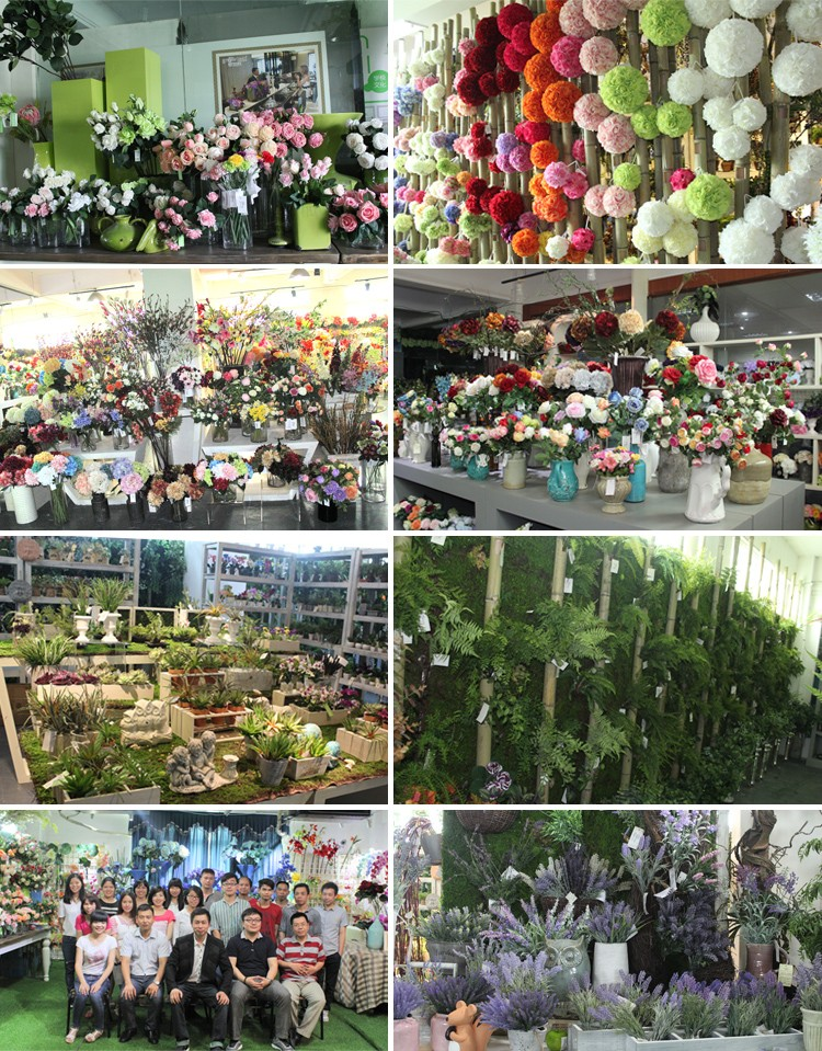 Venta al por mayor y decoración Real tacto Artificial flores de seda