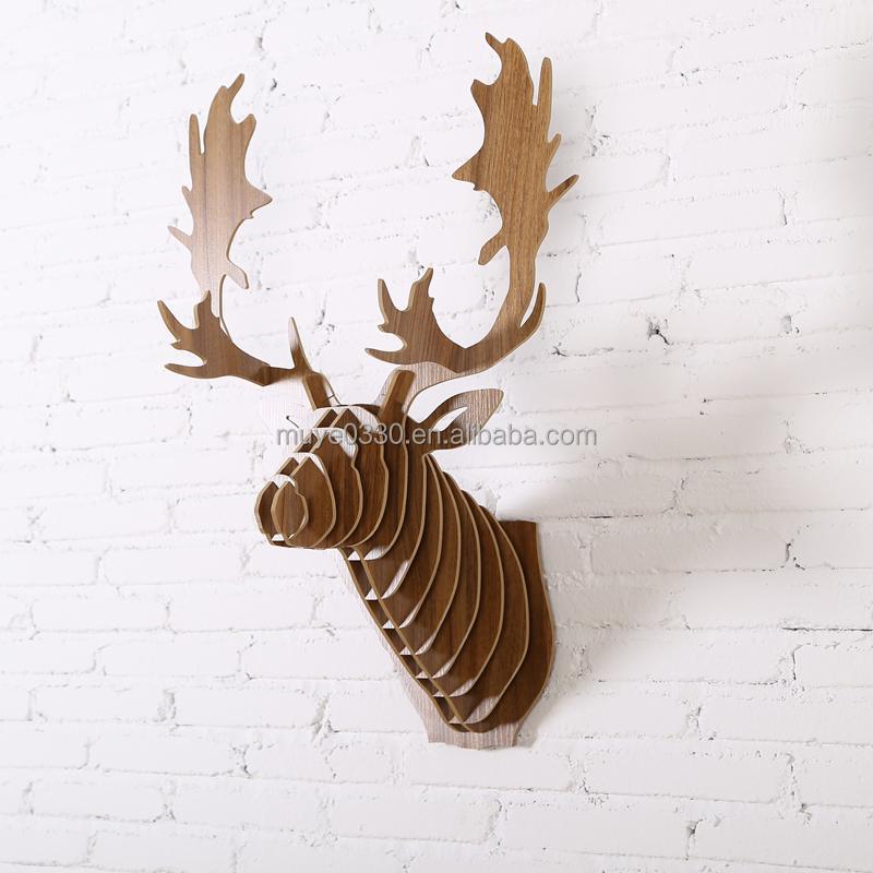 nordic 3d reindeer head diy wooden wall home decor animal hanging deer moose elk caribou head christmas decoration buy christmas decoration deerhome - Christmas Moose Home Decor