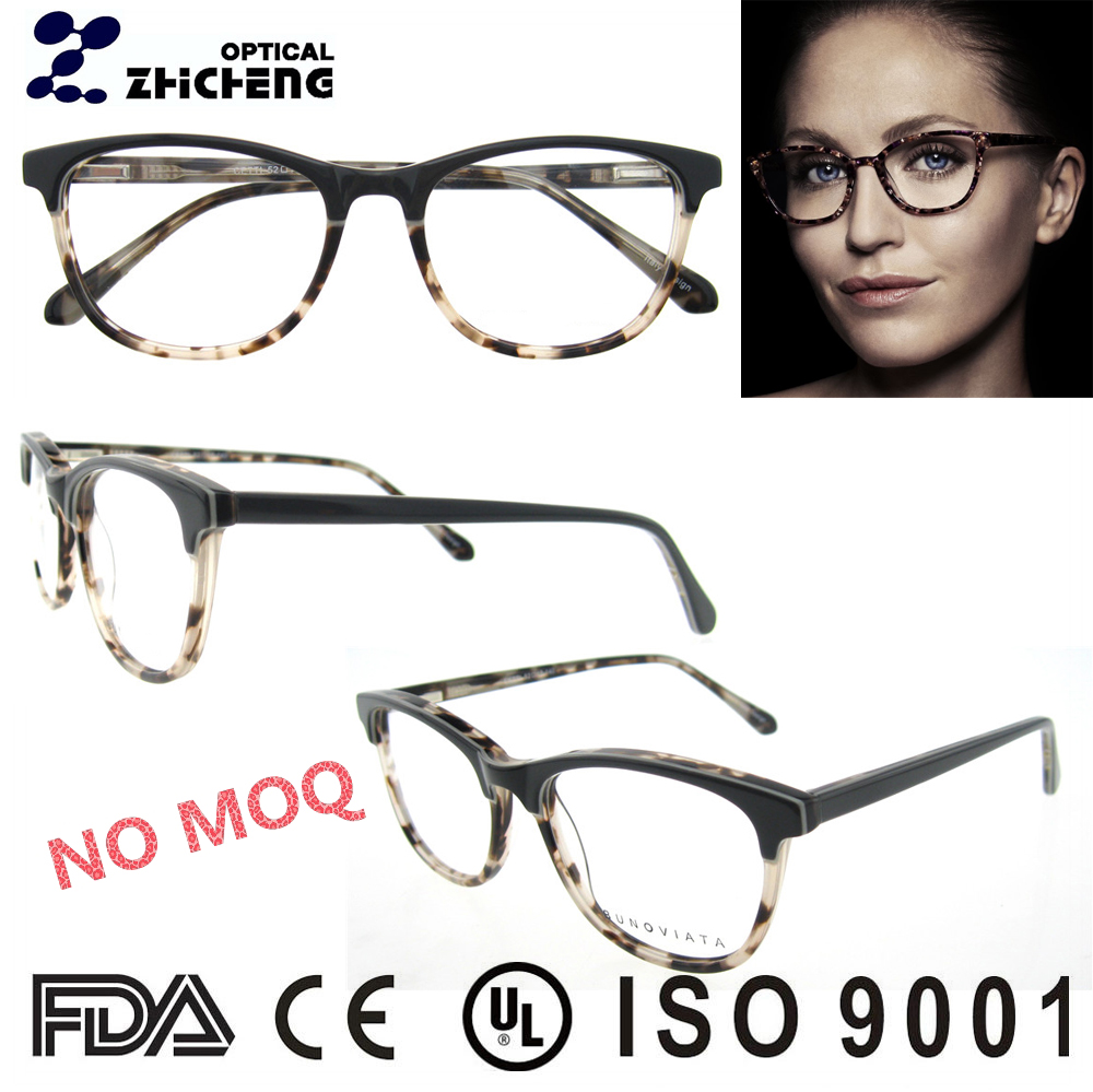 china italy designer spring hinge acetate oval optical frame for women