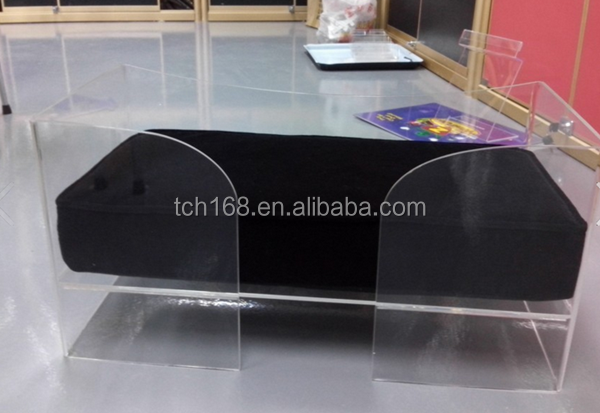 Wholesale Comfortable High Quality Lovely/Funny/Comfortable Big Size Clear Acrylic Pet Bed/Dog Bed/Cat Bed