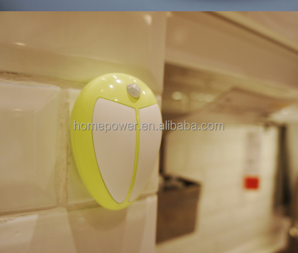 LED motion sensor light LED night light with battery for indoor room hotel and night light baby