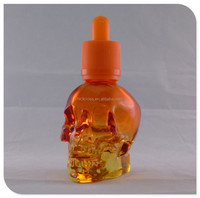 wholesale empty refillable skull glass dropper perfume bottle for cosmetics