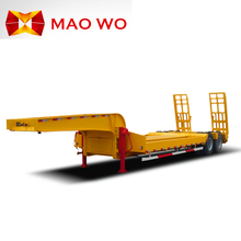 Factory price 40T heavy duty low bed car carrier truck trailer
