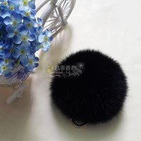 Popular new arrival fur pom poms decoration on beanie hats top ball high quality wholesale fox real js fur ball women sex pom
