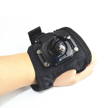 Wholesale Black Edition Glove style Wrist Band Mount Strap for Gopro Hero3 Sj4000 Xiaomi Yi Camera accessories