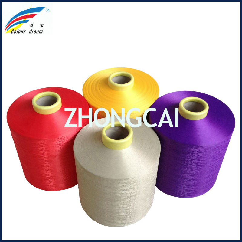 The Biggest manufatory of the polyester dope dyed colors DTY yarn in China