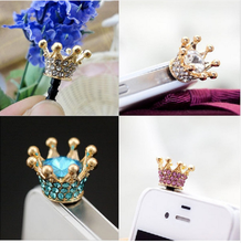 3.5mm Jack AUX Anti Dust Plug Crystal Rhinestones Charms Mobile phone Earphone Audio Port Stopper
