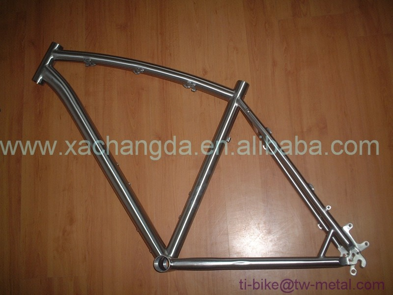 cheap bending top tube 27.5 titanium mtb bike frame, 29er mtb bicycle frame titanium, mountain bike frame in titanium mtb