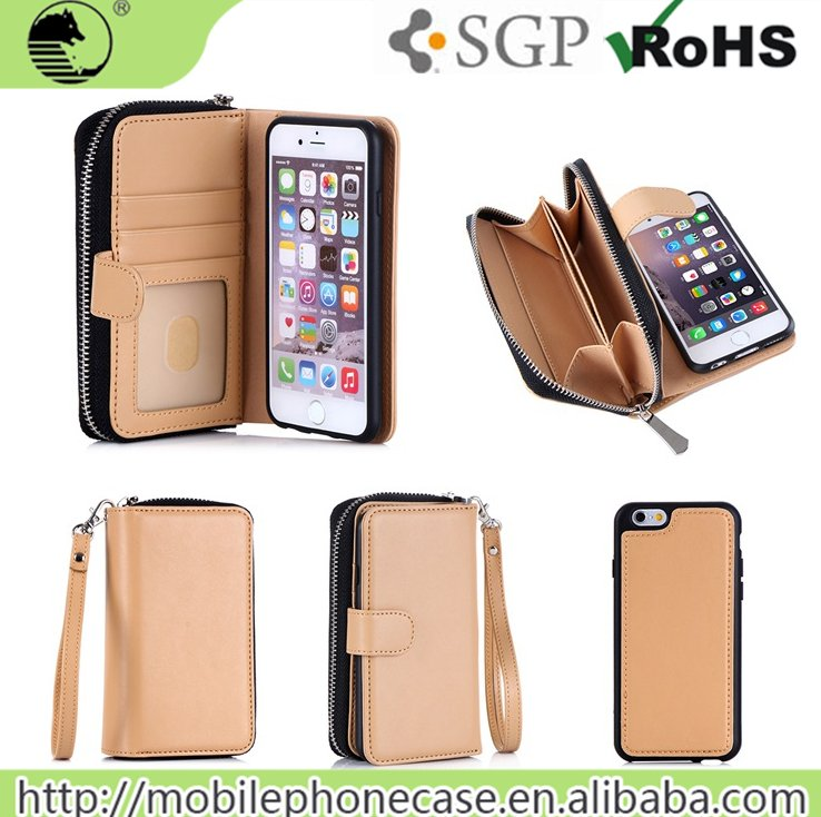 Hot Smartphone Accessories Wallet Design mobile phone bags & cases For iPhone 6/6s Plus