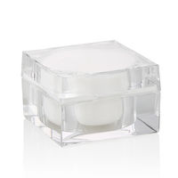 cosmetic packaging 15g 30g 50g luxury square acrylic cream jar for eye face