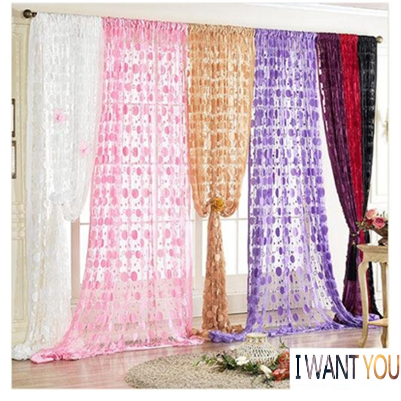 100cm*200cm Circle Jacquard String Curtain New Classical Style Decorated Door Curtain Frensh Window Entrance barrier Curtain
