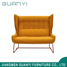 beautiful yellow soft leather metal sofa legs for sale