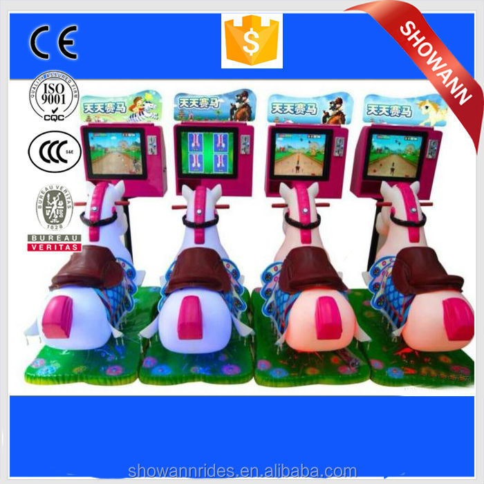 3D coin pusher horse riding simulator machine games