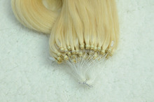 wholesale Remy Virgin Hair strand double drawn microloop hair extension Peruvian hair