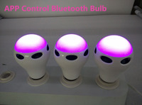 dimmable RGB led bluetooth bulb, 10w smart led bulb music speaker, app led bulb from China suppliers