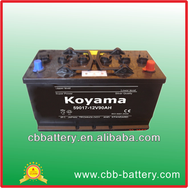 59017 car dry cell batteries 12v/90ah