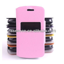 For Nokia Asha 302 / 3020 Leather Case with caller ID display function