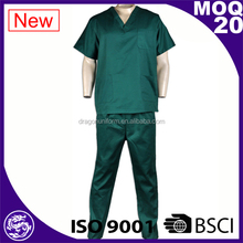 Fashion design Green Polyester cotton Male Nurse hospital uniforms