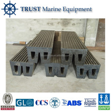 High performance boat dock W type marine rubber fender prices