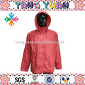 cheap foldable waterproof red raincoat for adult