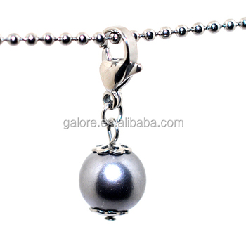 high quality hot sale pearl floating charms dangle.