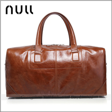 Wholesale High Quality Vintage Style Genuine Leather Custom Travel Duffel Bag